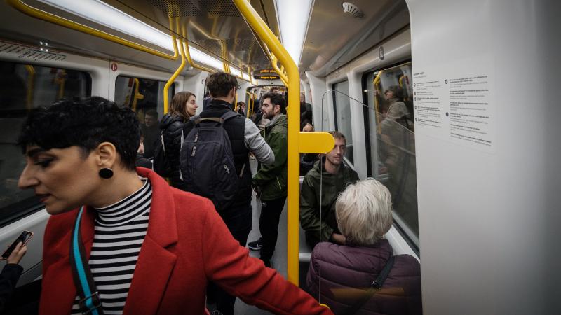 Et af de nye metro tog