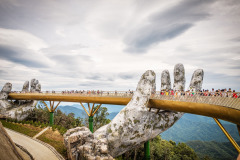 The Golden Bridge /Vietnamese: Cầu Vàng) is a pedestrian bridge located in the Sun World resort in Bà Nà Hills near Da Nang in Vietnam.