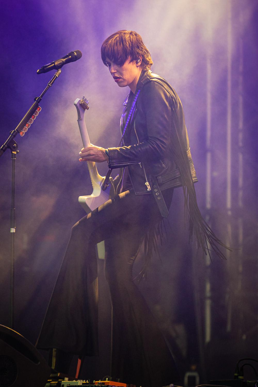 Halestorml - here Lzzy Hale on guitar and vocals