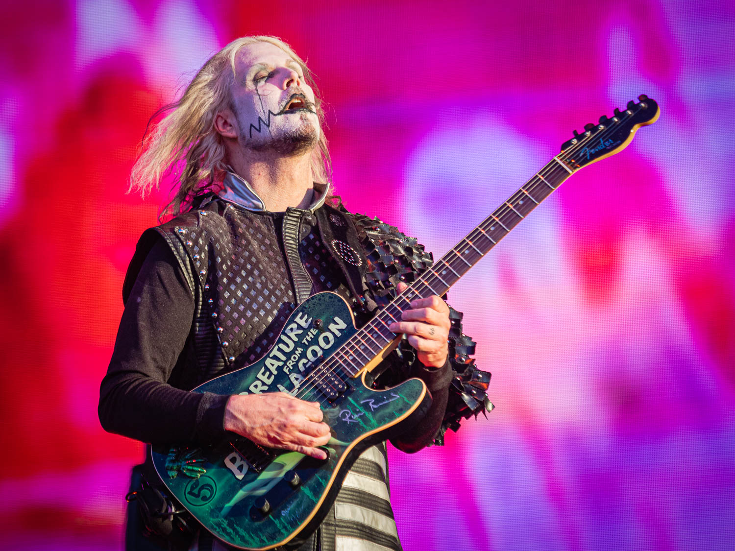 Rob Zombie live on stage at the 2019 Copenhell Metal Festivall - here John5 on guitar