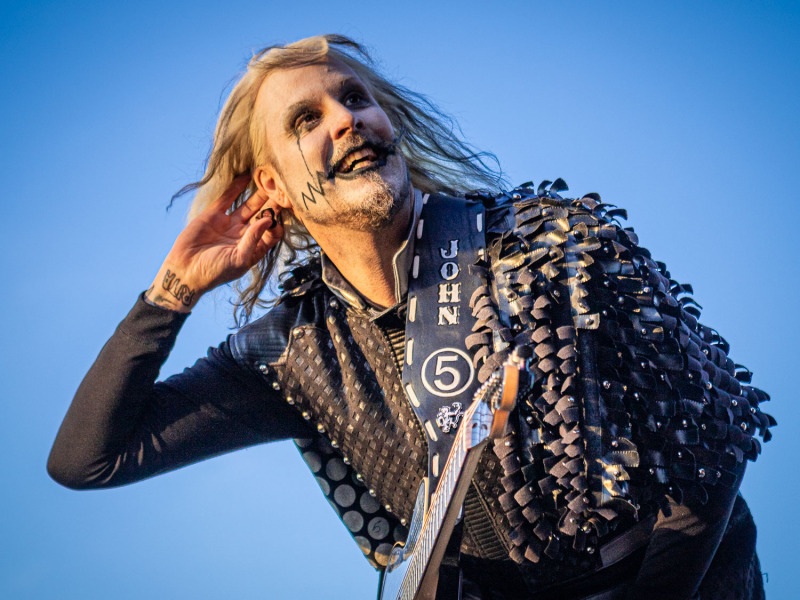 Rob Zombie live on stage at the 2019 Copenhell Metal Festival - here John5 on guitar